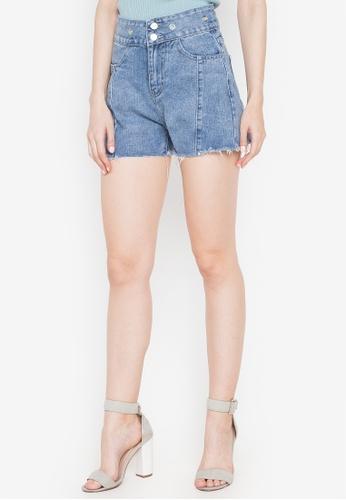 Spring Fling blue Denim Shorts with Drawstring E20EDAA128FEE8GS_1