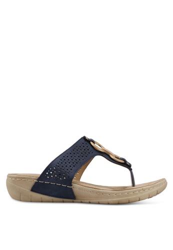 Alfio Raldo blue Slip-On Sandals 48F0ASH25AF642GS_1