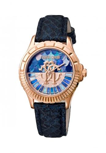 Roberto Cavalli blue and gold Roberto Cavalli Womens analog watch by Franck Muller CBBAFAC31F3F46GS_1