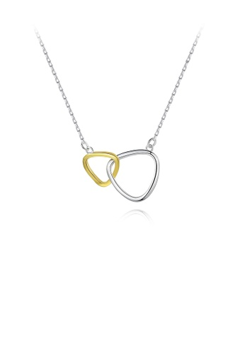 Glamorousky silver 925 Sterling Silver Simple Fashion Hollow Geometric Triangle Pendant with Necklace 528E3AC5B0B189GS_1
