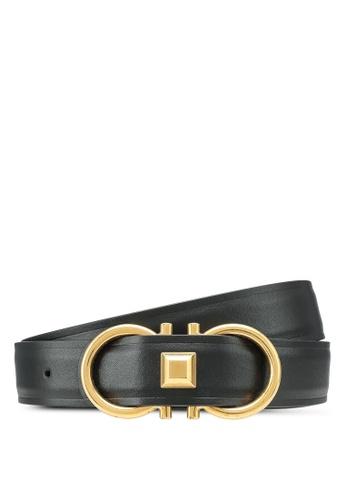 Ferragamo black Gancini Belt (oc) DB8D8ACCD27793GS_1
