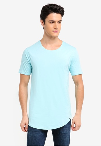 Factorie blue The Curved Tall Tee 452A6AA7CBD730GS_1