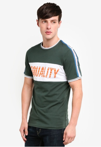 Only & Sons 綠色 品牌刺繡T恤 A1EBDAA32A9543GS_1