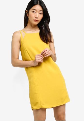 Something Borrowed yellow Cut In Shift Dress 6E99BAA6EF91CCGS_1