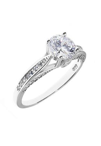 Elfi silver Elfi 925 Sterling Silver Engagement Wedding Fashion Ladies Ring P66 E47A1AC5FC18E9GS_1