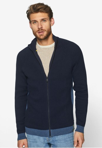 ESPRIT navy Colourblock Cardigan 3FB07AA180EDC1GS_1