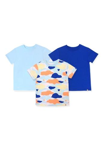 OETEO blue and multi Camo Flash Toddler Essential Tee 3-Piece Bundle (Blue) A1515KA6615819GS_1