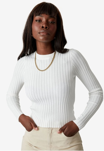 Supre white Willow Crew Neck Knit Top 3B498AA1507BB8GS_1
