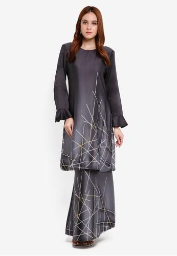 Gene Martino black Batik Abstract Kurung Modern 308D5AA4C59920GS_1
