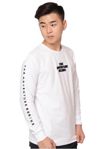 Praise white Long Sleeves Pullover PR067AA0GZ42SG_1
