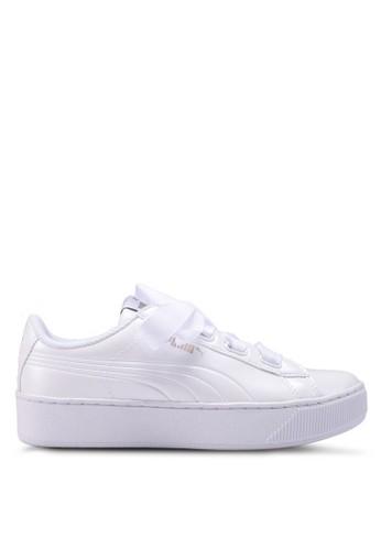Puma white Core Vikky Platform Ribbon Shoes 5E6D9SHF8EBCD6GS 1 ba1633d46