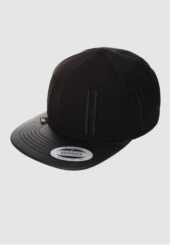 M-Wanted black M.HVPE X Bold Statement Snapback Cap MW173AC40JGHSG_1