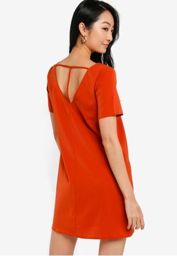 ZALORA BASICS orange T Back Mini Shift Dress 98B58AA7741BB2GS_1