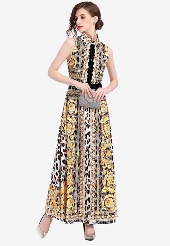 Sunnydaysweety multi Flower Patterned One Piece Dress BA1C9AA2028827GS_1