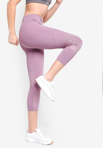 Cotton On Body purple Tempo Mesh Panelled Crop Tights BBD43AA17F848EGS_1