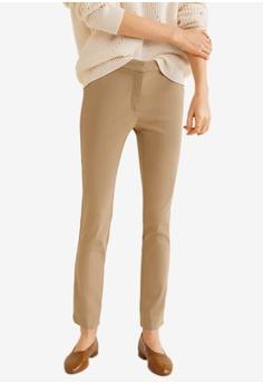 d9d83850c2a48 MANGO brown Crop Slim-Fit Trousers 8D146AAB2A859DGS 1