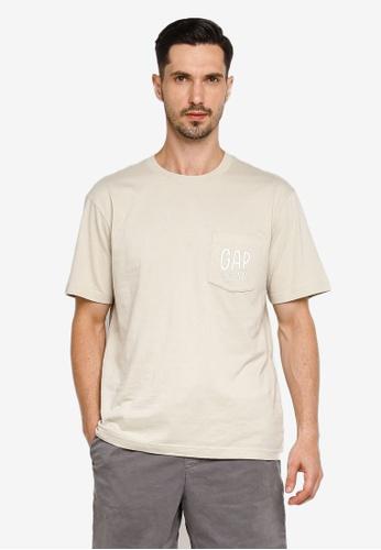 GAP brown Pocket Detail T-shirt 7DDB0AA995D946GS_1