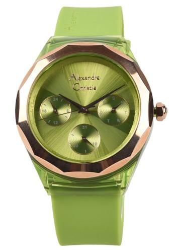 Alexandre Christie green Alexandre Christie - Jam Tangan Wanita - Green - Rubber Strap - 2808-B 26592AC1BE7CA6GS_1