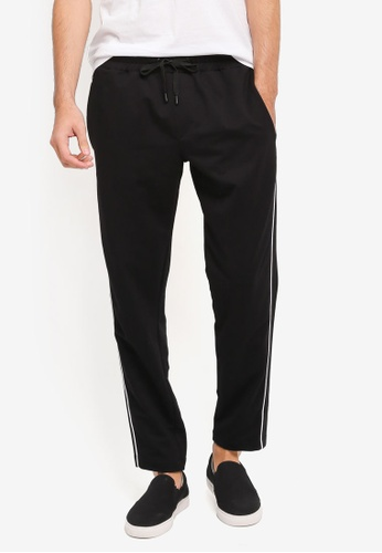 MANGO Man black Cotton Jogging Trousers MA449AA0T1F5MY_1