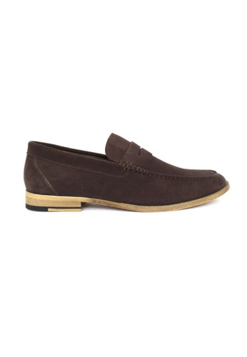 Tomaz brown Tomaz C229 Suede Penny Loafers (Coffee) TO717SH96YWXMY_1
