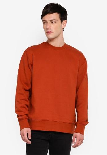 Topman 褐色 Rust Sweatshirt 1C526AAC28FDB2GS_1