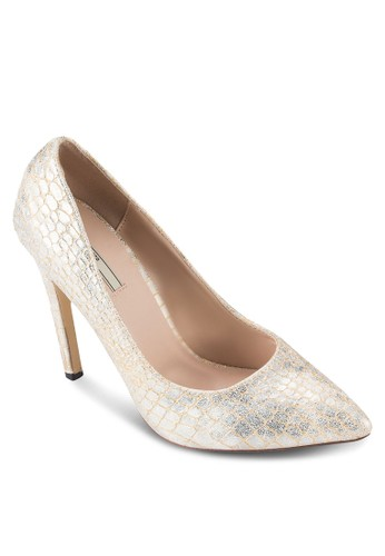Metallic Croco Print Heel Pumps, 女鞋, 厚底高zalora 台灣門市跟鞋