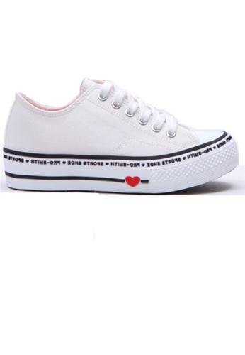 Crystal Korea Fashion 白色 韓國制百搭平底舒適休閒鞋 EA63ASH2FD44E0GS_1