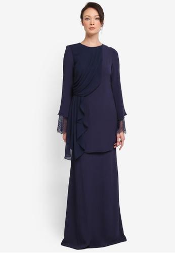 NH by NURITA HARITH blue Carla Kurung Modern 9A6ADAA518FC61GS_1