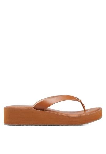ALDO 褐色 金屬飾楔型鞋 6DAABSH15D8AE1GS_1