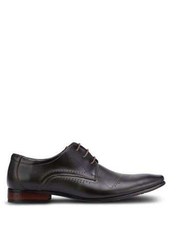 Frank Williams brown Leather Dress Shoes FR169SH0RE6IMY_1