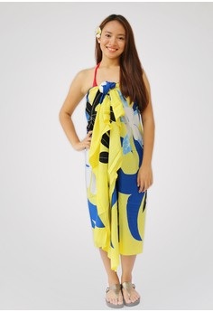 Eclat Flower Amarillo Hand Painted Sarong