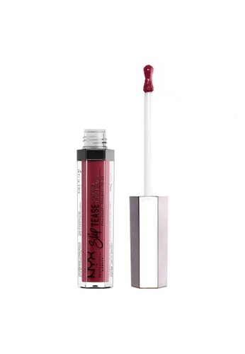 NYX Professional Makeup red NYX Professional Makeup Slip Tease Lip Lacquer - STLL 7 ROSY OUTLOOK 2F7CABE385C97CGS_1