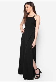 Love Halter Trapeeze Maxi Dress