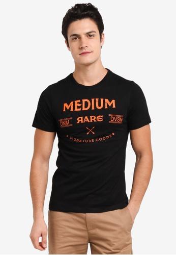 JAXON black Medium Rare Logo Tee 4E0C2AAB37EBC2GS_1