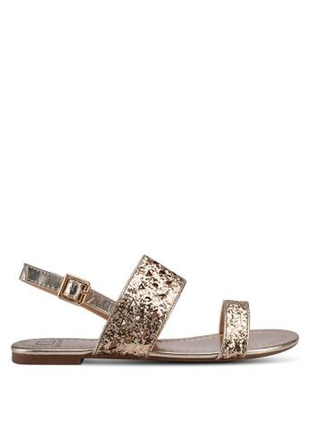 Carlton London gold Metallic Sandals 10551SH2249AF1GS_1