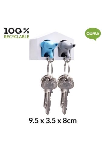 Qualy Qualy Duo Elephant Key Ring 8D8C8HL80B2815GS_1