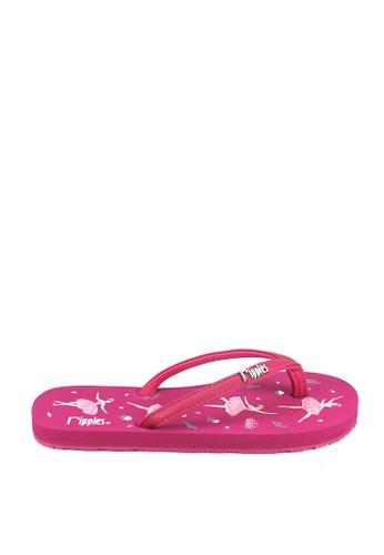 Ripples pink Ballerina Flip Flops RI425SH0GP06SG_1