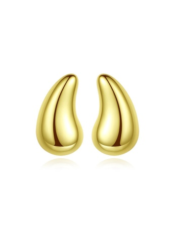 SUNRAIS gold High quality Silver S925 gold simple design earrings CCEAAAC607DBFAGS_1