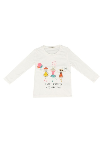 KOTON white Sweet Bunnies T-Shirt F81BBKA2CA6BE4GS_1