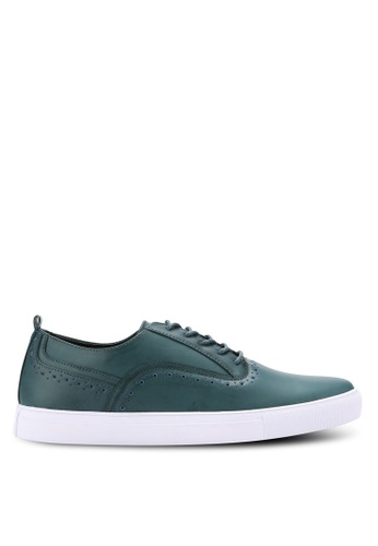 ZALORA green Faux Leather Oxford Sneakers 51BA7SH1AA8B05GS_1