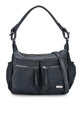 NUVEAU grey Premium Nylon Convertible Shoulder Bag 78230AC51021B1GS_1