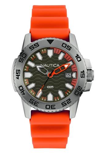 NAUTICA orange Nautica Bunjee NSR 20 Orange Silicone Strap NA146AC47OCESG_1