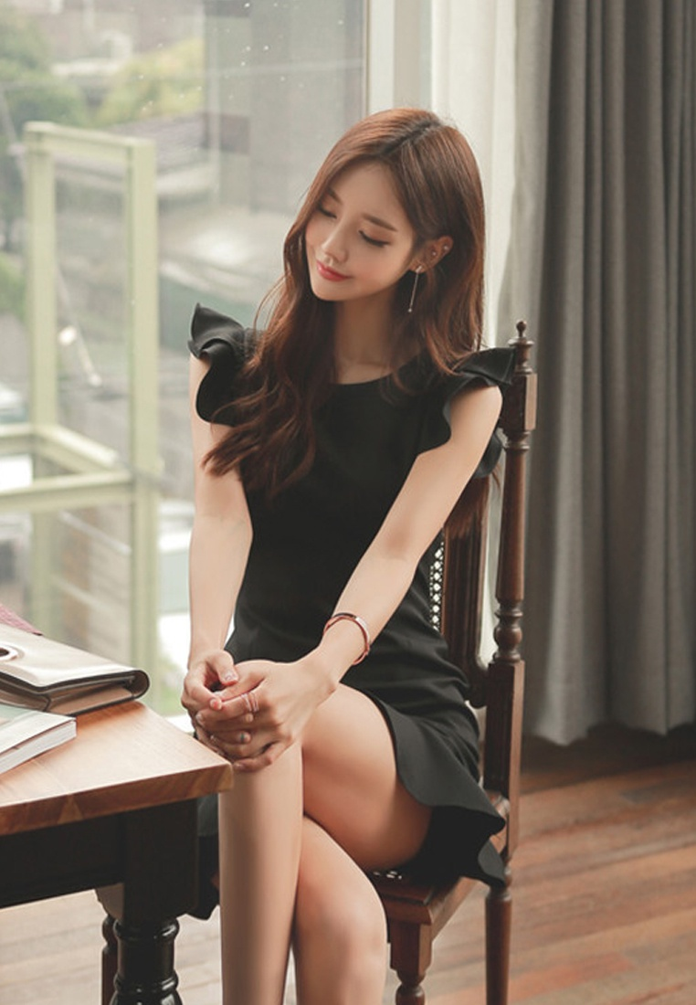 Mermaid New Black Piece Dress One Sunnydaysweety UA061926 Black 2018 wEPFaqdxx
