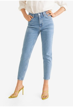 Mango blue Slim-Fit New Mom Jeans DD371AA6062D5CGS 1 a8c1f8115