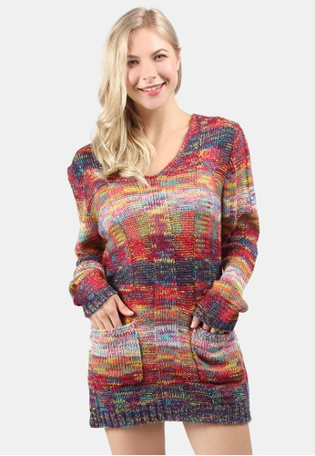 London Rag multi Textured Multi Color Sweater 2F367AA4A72E70GS_1