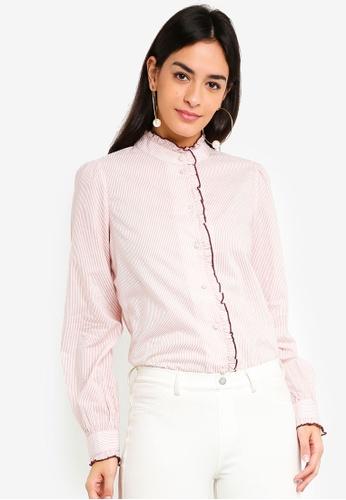 Vero Moda pink Claudia Shirt 75E42AAFCAFD7DGS_1