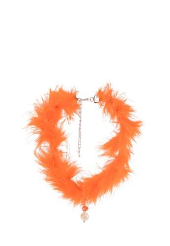 La Maison D'Evolette orange Honey Swan Choker With Tiger'S Eyes Gemstone 05975AC9986E0CGS_1