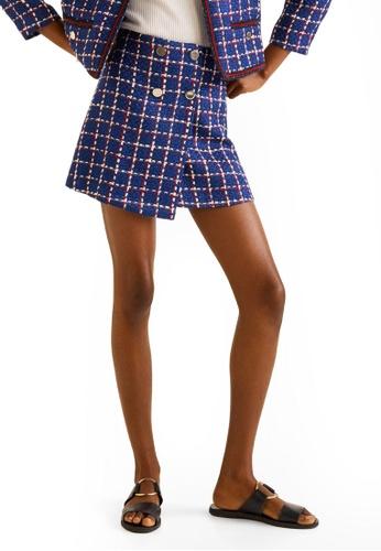 05b168bd70 Buy Mango Tweed Mini Skirt Online on ZALORA Singapore