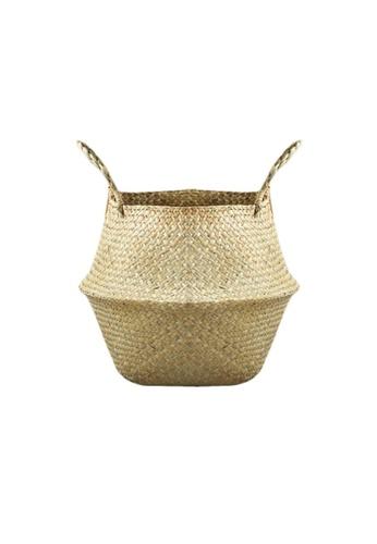 Propstation Natural Seagrass Wicker Basket - Medium 9C8F3HL7B44A10GS_1
