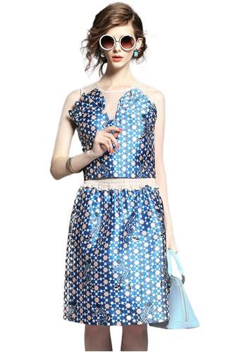Sunnydaysweety blue Blue Sleeveless Top with Skirt Set K200416033 BA53FAAB6DB012GS_1